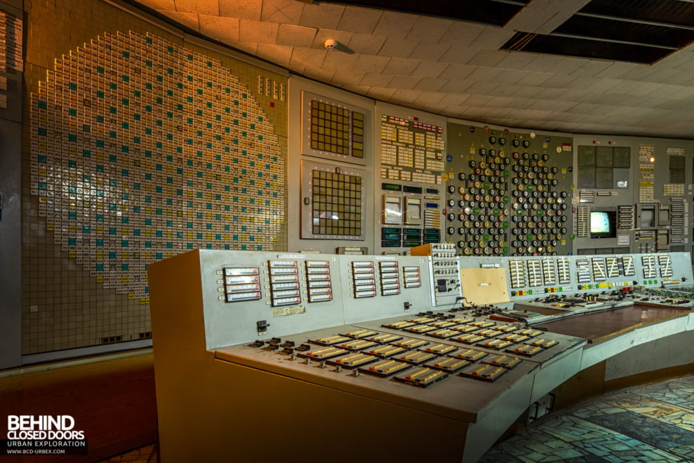 Chernobyl Power Plant - Reactor control desk in Control Room 2
