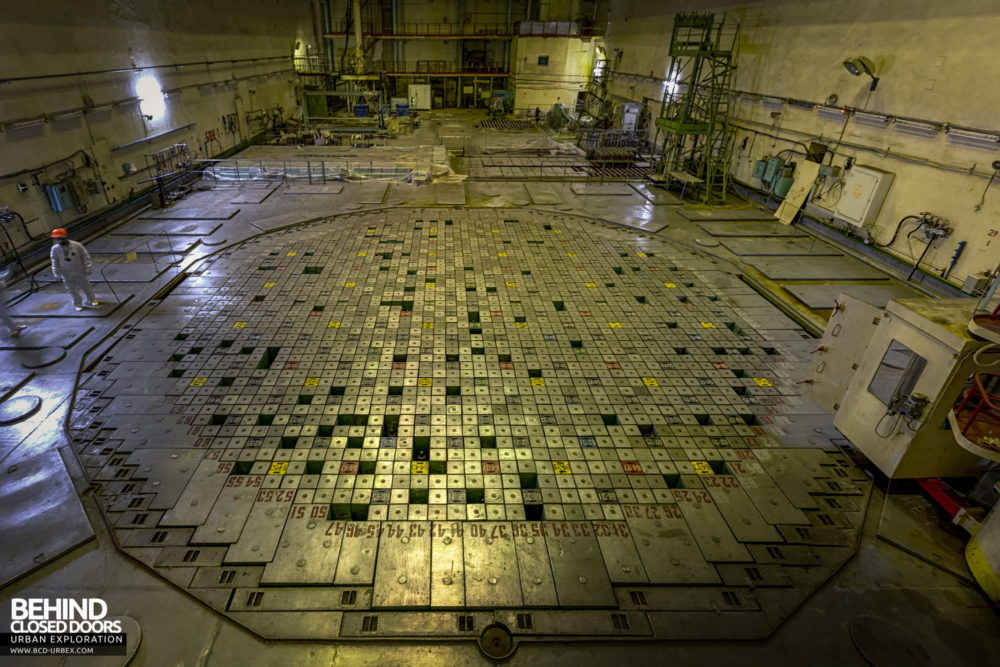 Chernobyl Power Plant - The reactor hall viewed from above