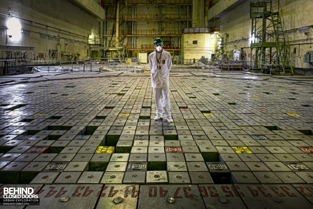 Chernobyl Power Plant - Selfie on the nuclear reactor!