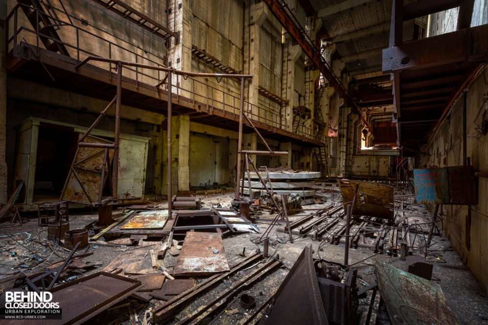 Chernobyl Unit 5 - Inside unit 5 was a bit of a mess - anything of value has been salvaged and metal scrapping is ongoing