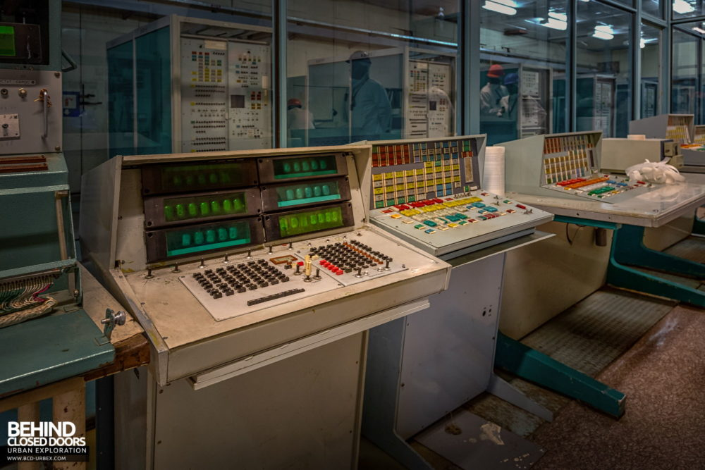 Chernobyl Power Plant - Computer control stations