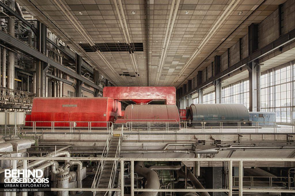 Ruien Power Plant - Red Escher Wyss turbine