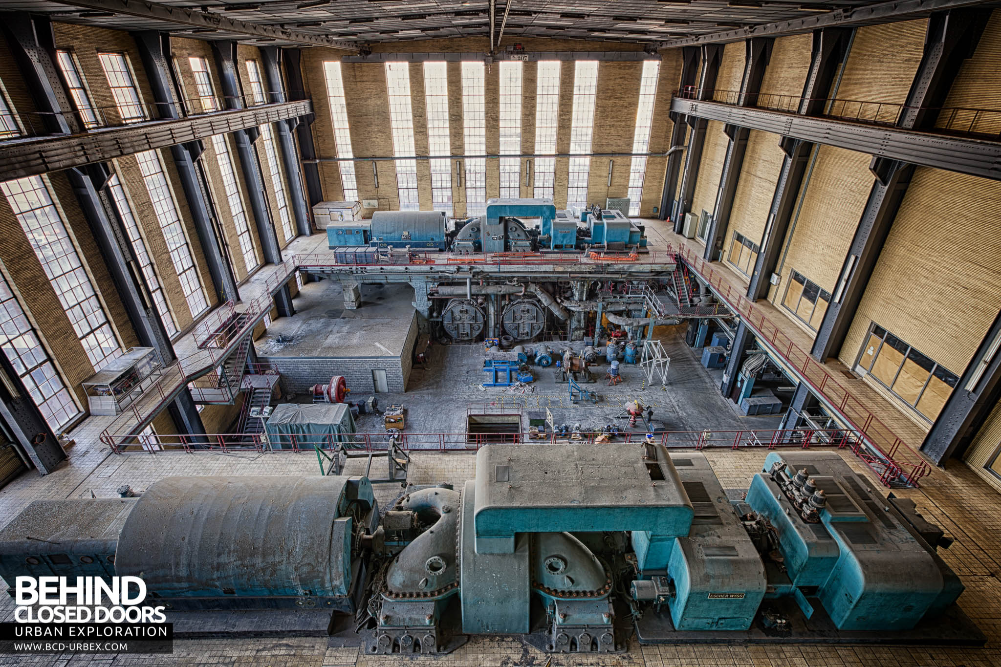 Gigawatt Power Plant – Turbine hall overview looking the other way