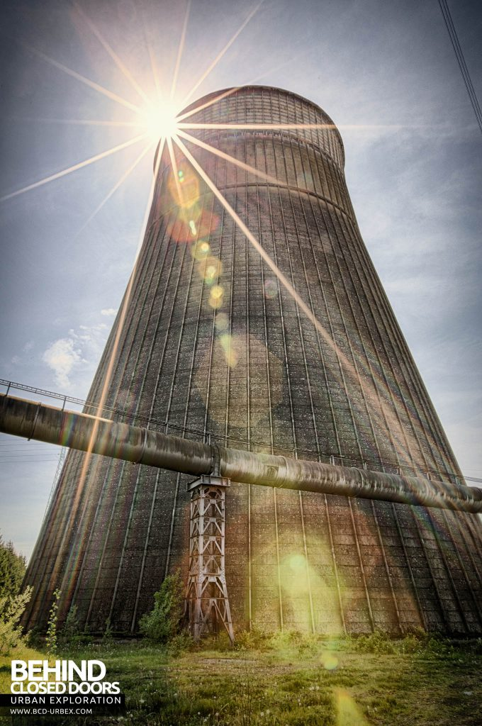 IM Cooling Tower - External with sunburst