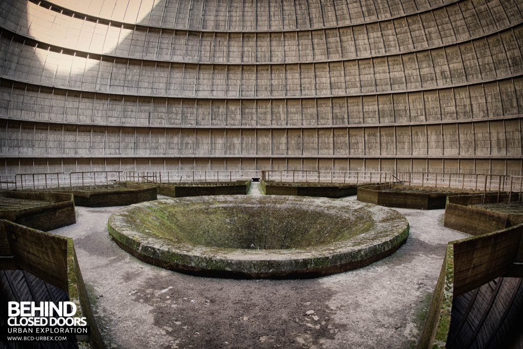 IM Cooling Tower - The hole in the middle, the hot water would have been pumped out through here