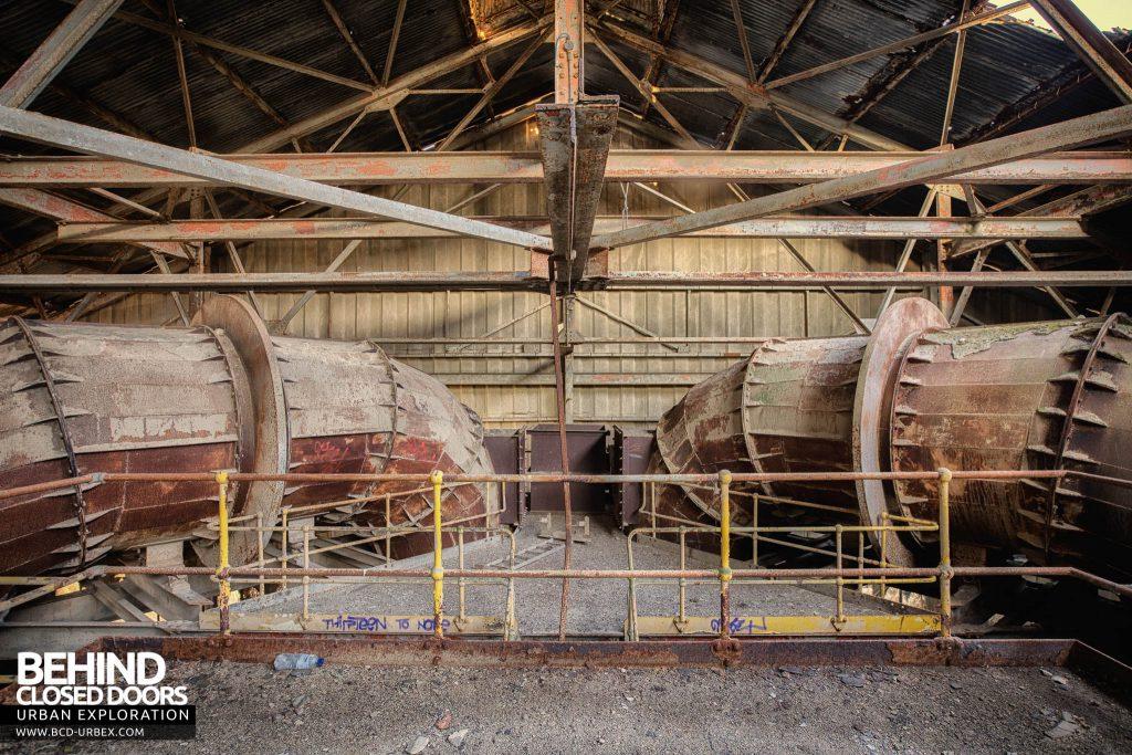 Shoreham Cement Works - Large pipe symmetry