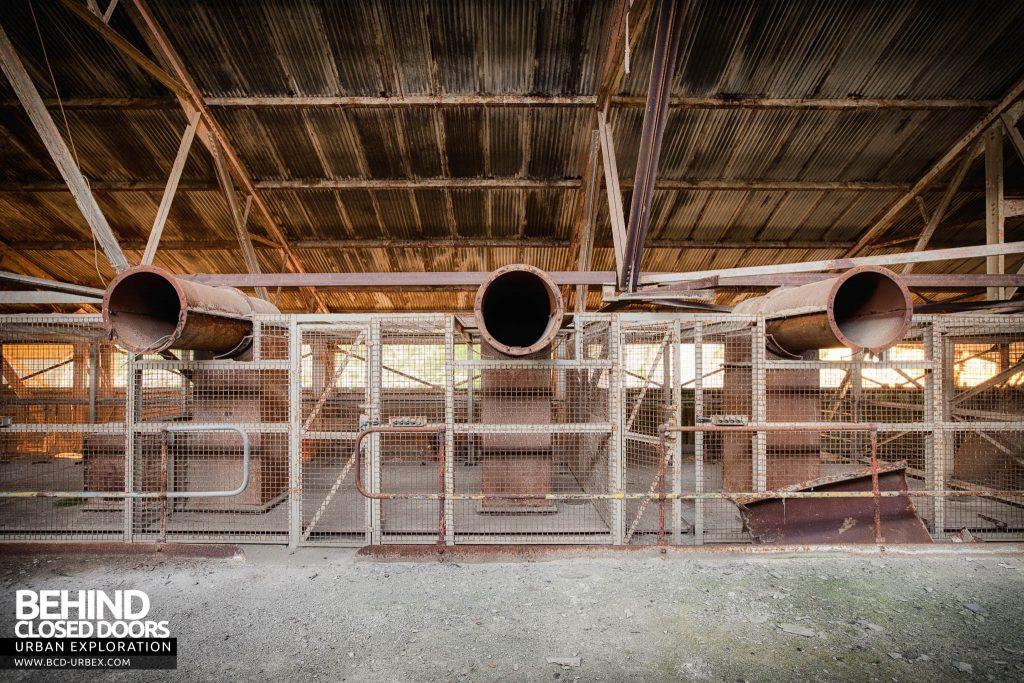 Shoreham Cement Works - Triple pipes