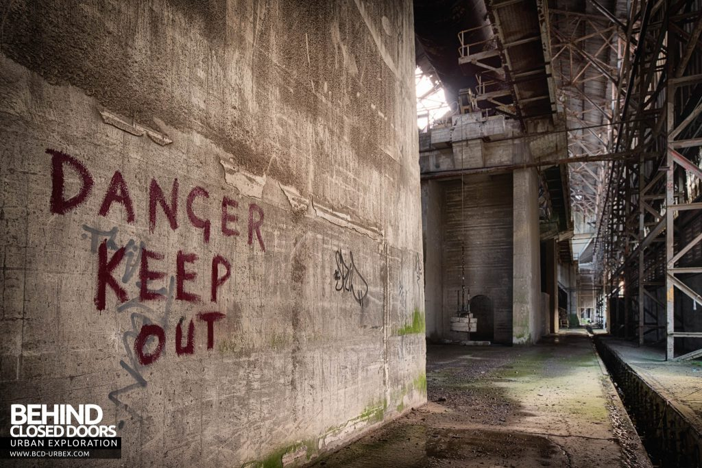 Shoreham Cement Works - Danger Keep Out sign.