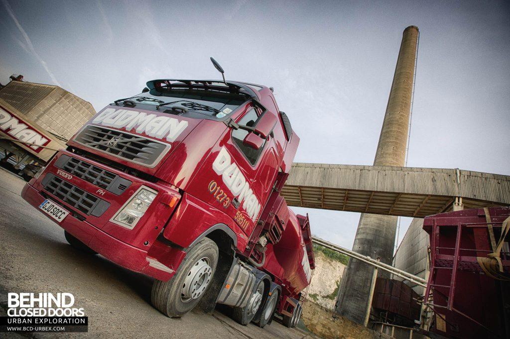 Shoreham Cement Works - Truck in front of building