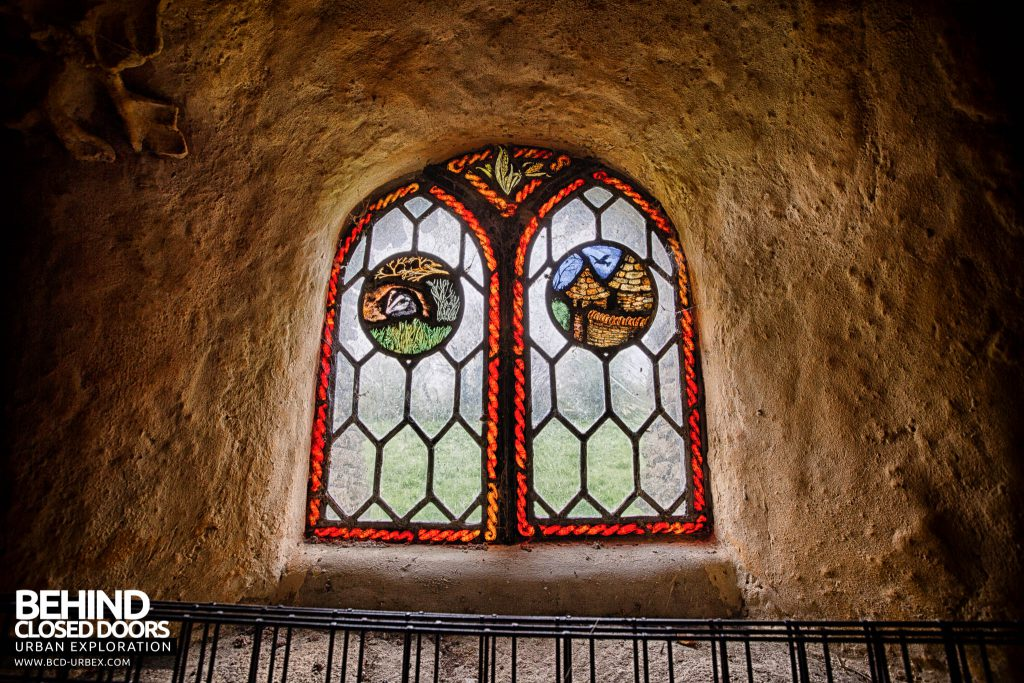 The Hobbit House aka Colin's Barn - Stained glass window created by hand