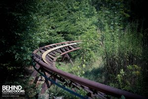 Spreepark Theme Park - Roller coaster track