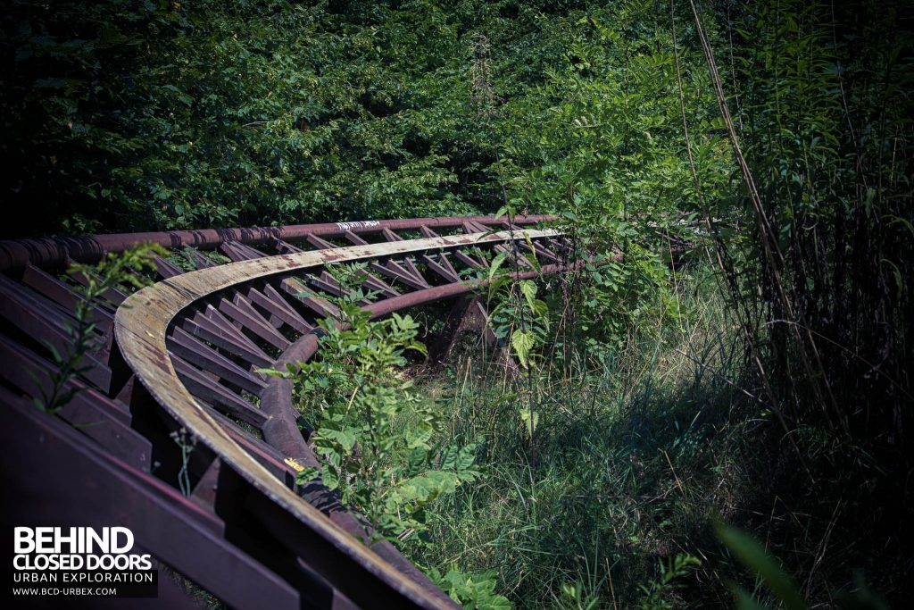 Spreepark Theme Park - Nature reclaiming the roller coaster track
