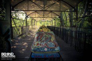 Spreepark Theme Park - Roller coaster station