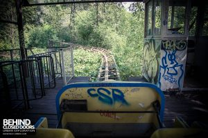 Spreepark Theme Park - On the roller coaster