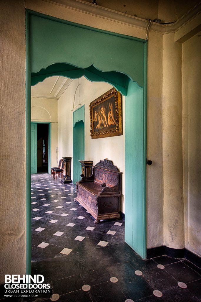 Chateau de la Chapelle - Looking back through the doorway