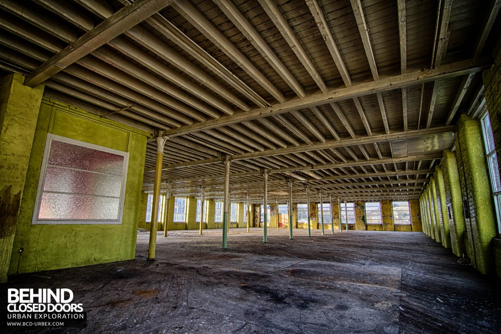 Globe Worsted Mills - One of the five open plan floor spaces