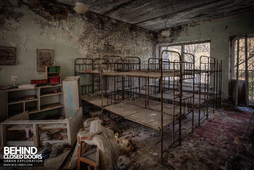 Pripyat Schools and Nurseries - Bunk beds in a nursery