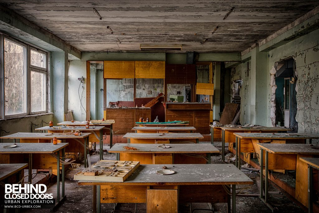 Pripyat Schools and Nurseries - Classroom with desks