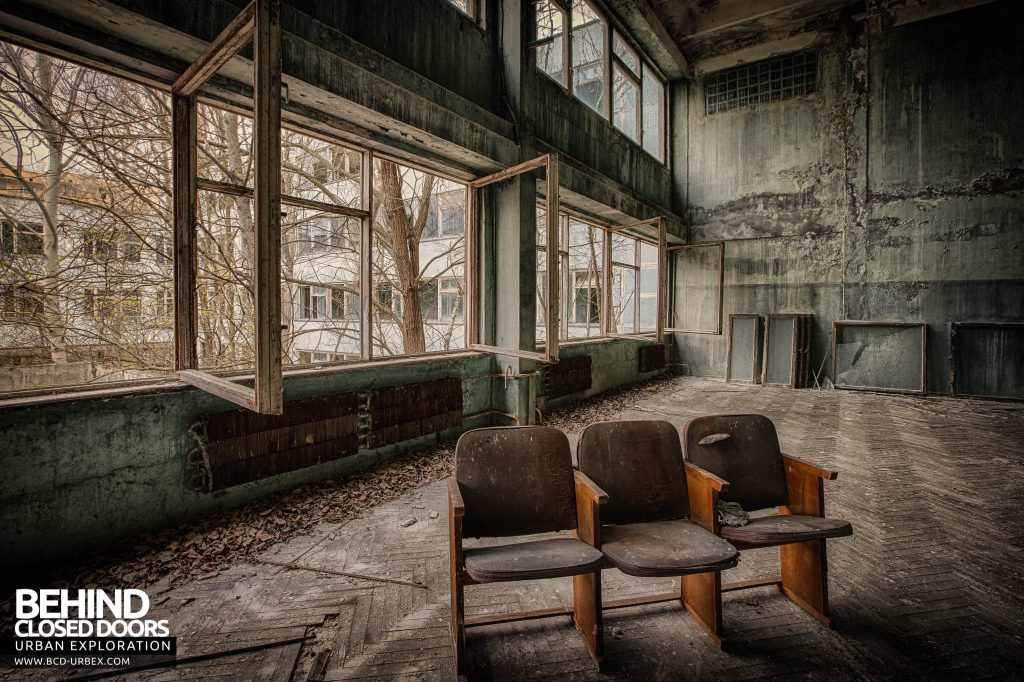 Pripyat Schools and Nurseries - Seats in a hall