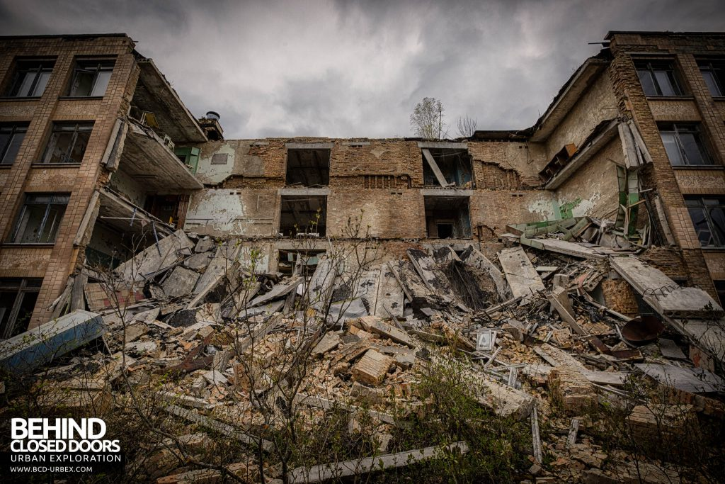 Pripyat Schools and Nurseries - One of the schools has partially collapsed