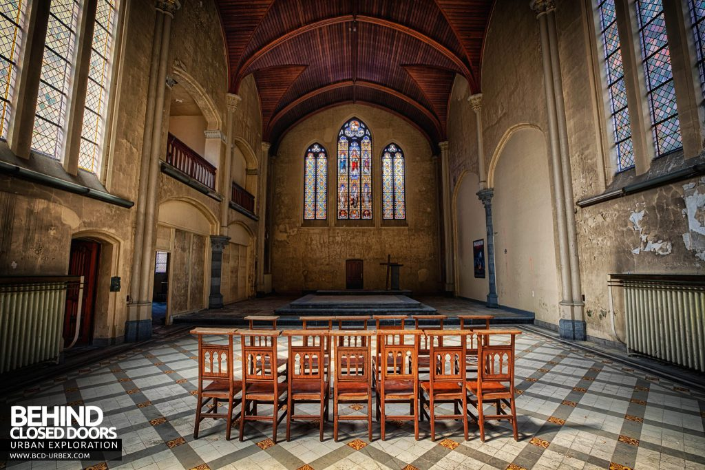 Salve Mater Psychiatric Hospital - Chairs set out in the chapel