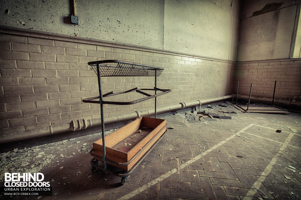 Easington Colliery Primary School - A trolley in the hall