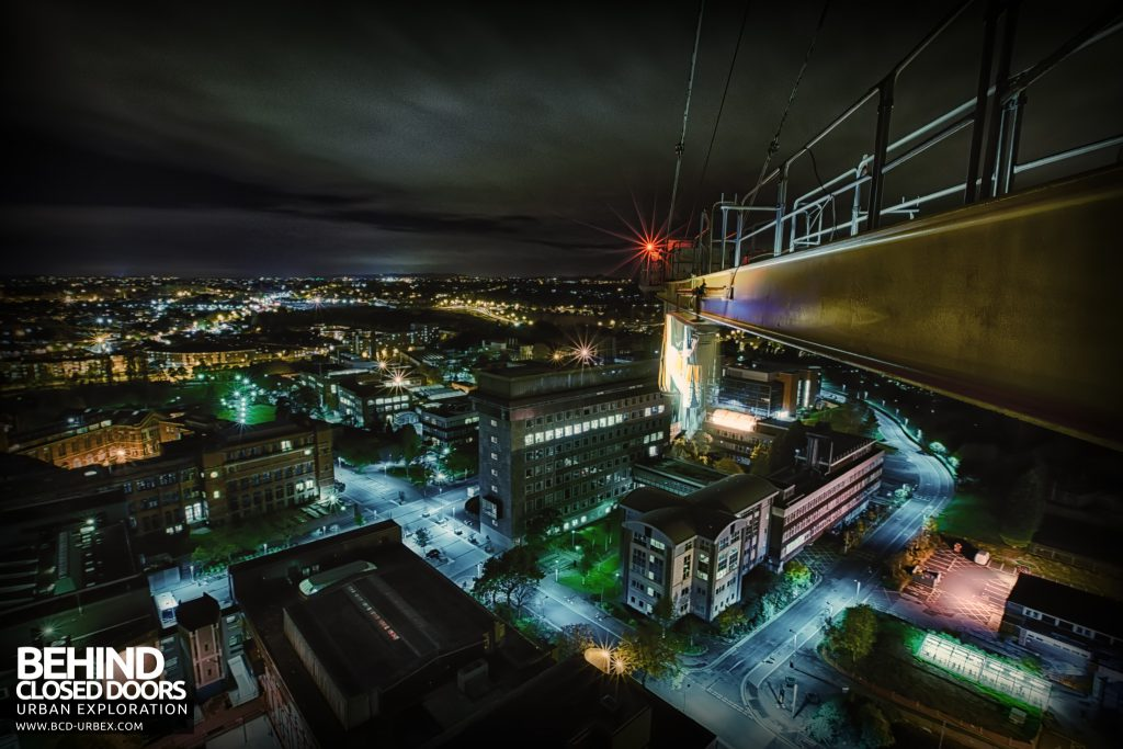 Tower Crane Climb - View from the platform to the rear