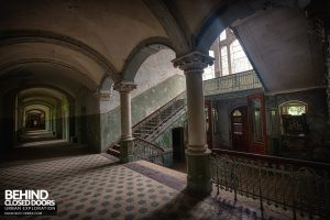 Beelitz Heilstätten Male Pavilion - Staircase and Corridor