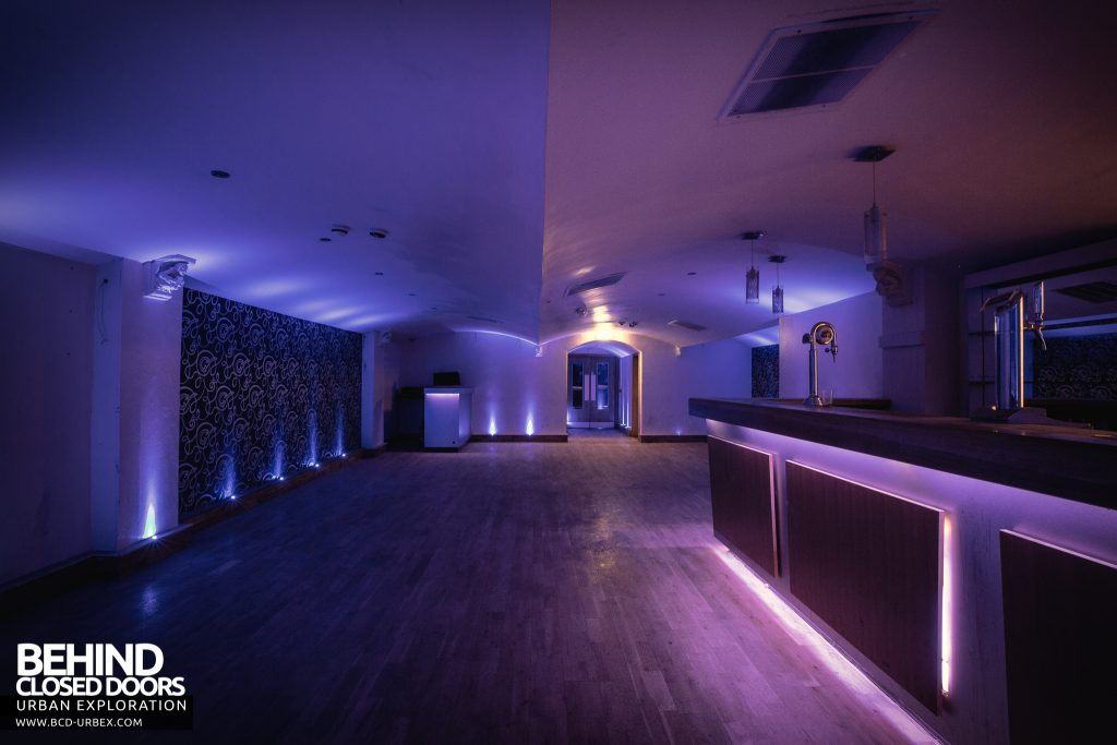 D9 Nightclub - This room is illuminated entirely by blue lighting