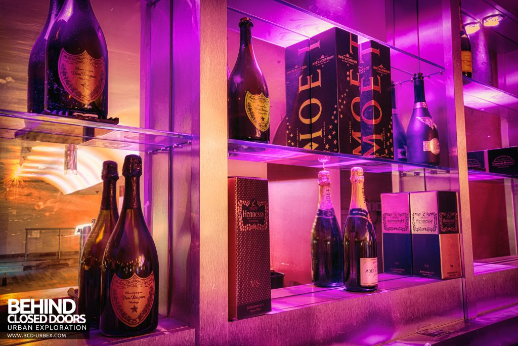 D9 Nightclub - Champagne on display behind the bar