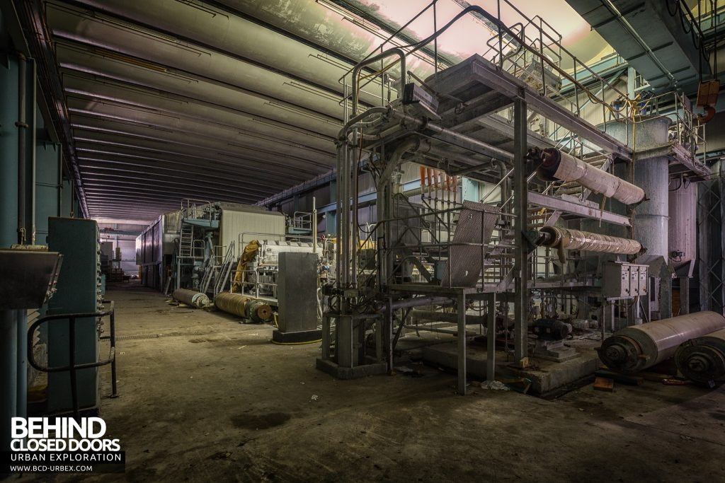 Fletchers Paper Mill - A large milling machine was added more recently