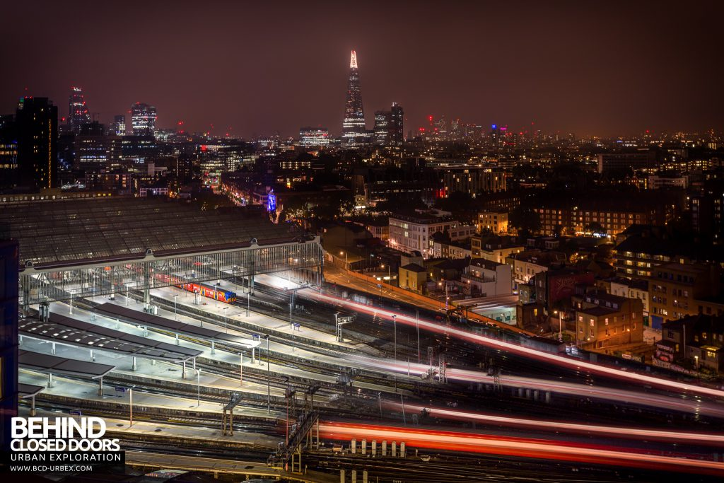 London Rooftops - Railway station and the Shard
