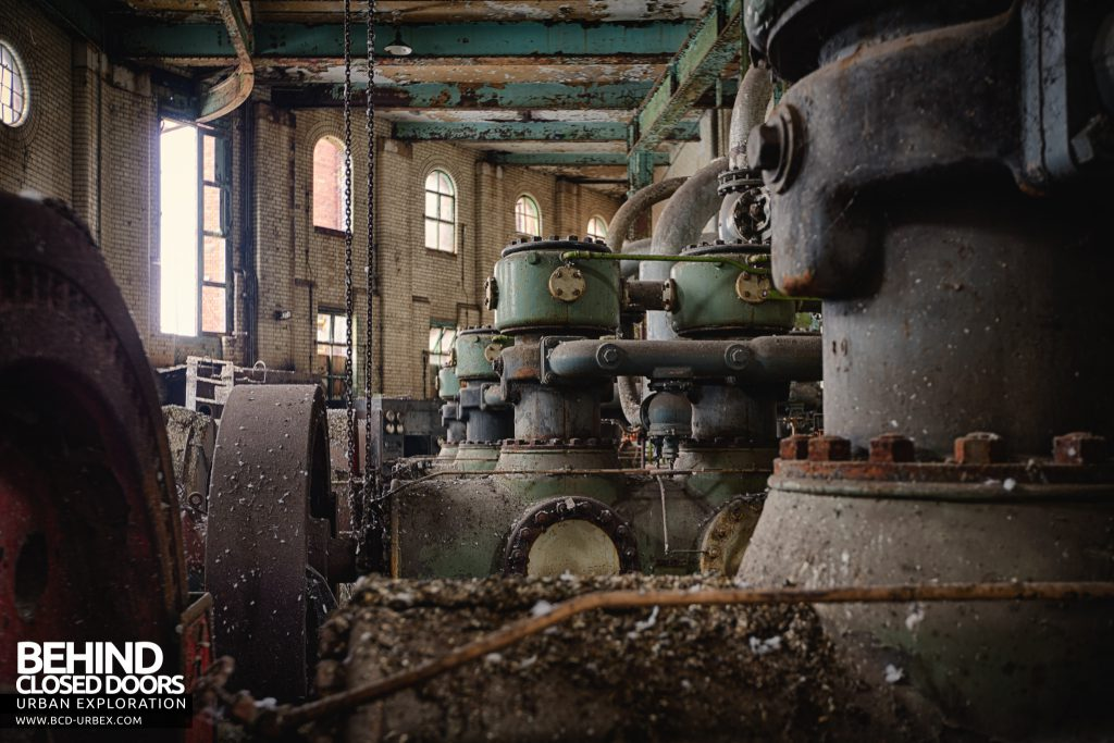 Grimsby Ice Factory - The compressors stand proud amongst the grime