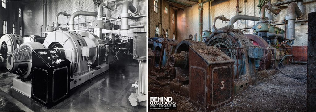 Grimsby Ice Factory Now and Then - Compressor number 3