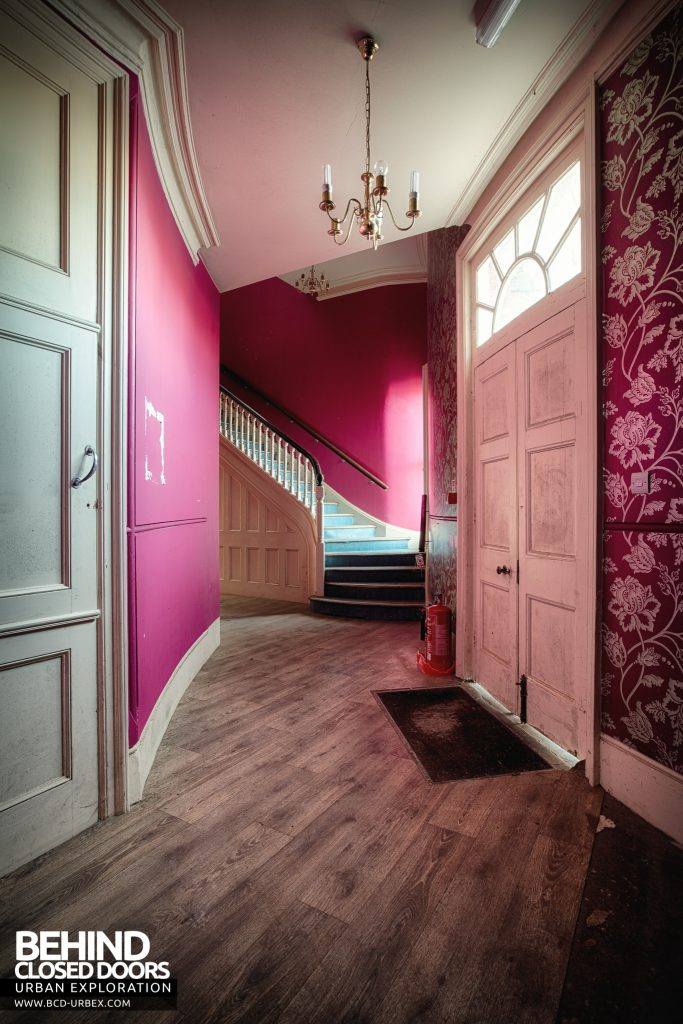 Stanford Hall - Pink entrance
