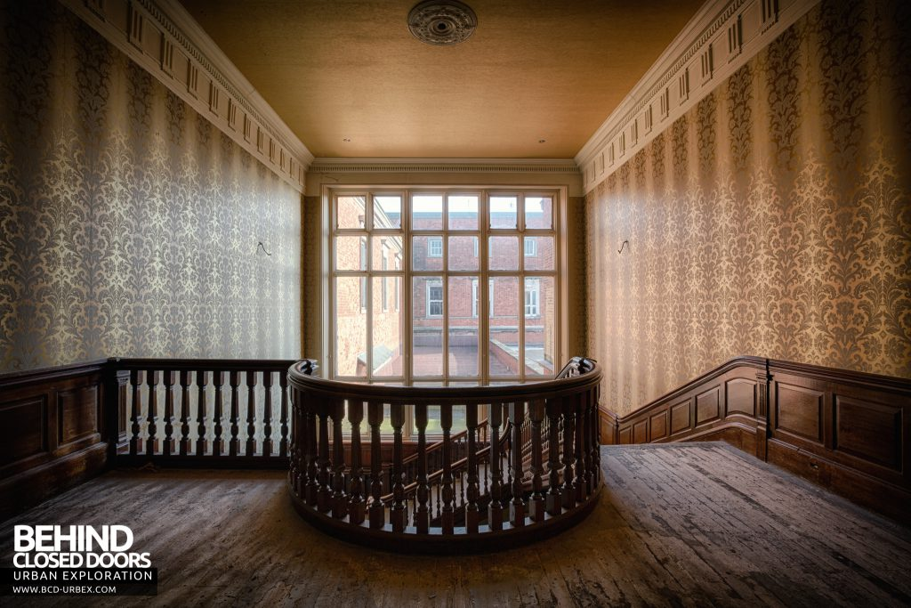 Stanford Hall - At the top of the staircase