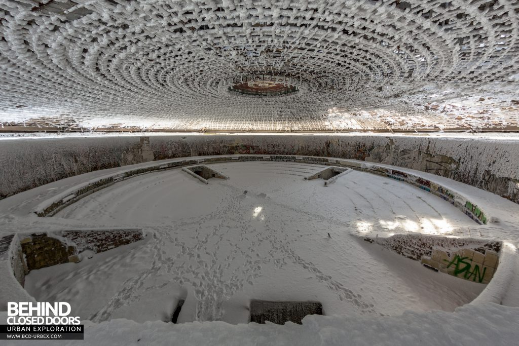 Buzludzha - The centre of the building is taken up by a huge circular auditorium