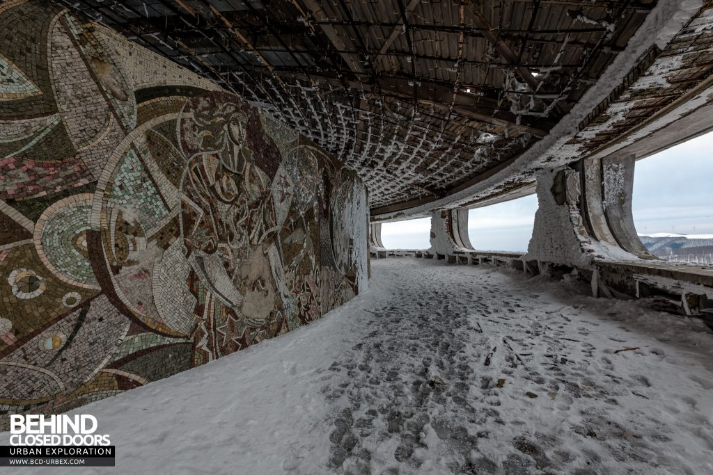 Buzludzha - The internal walls are adorned with elaborate mosaics