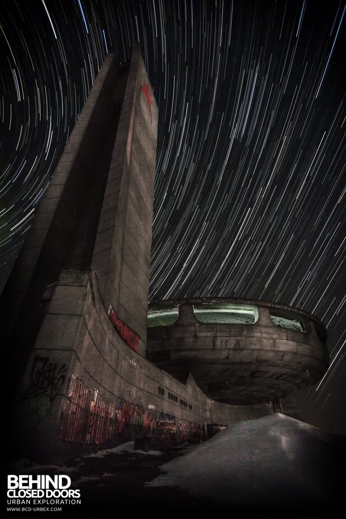 Buzludzha - Movement of the stars over one hour