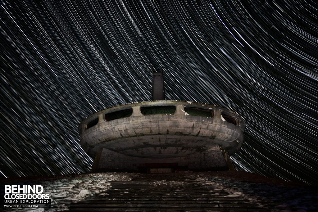 Buzludzha - Star trail as the night falls