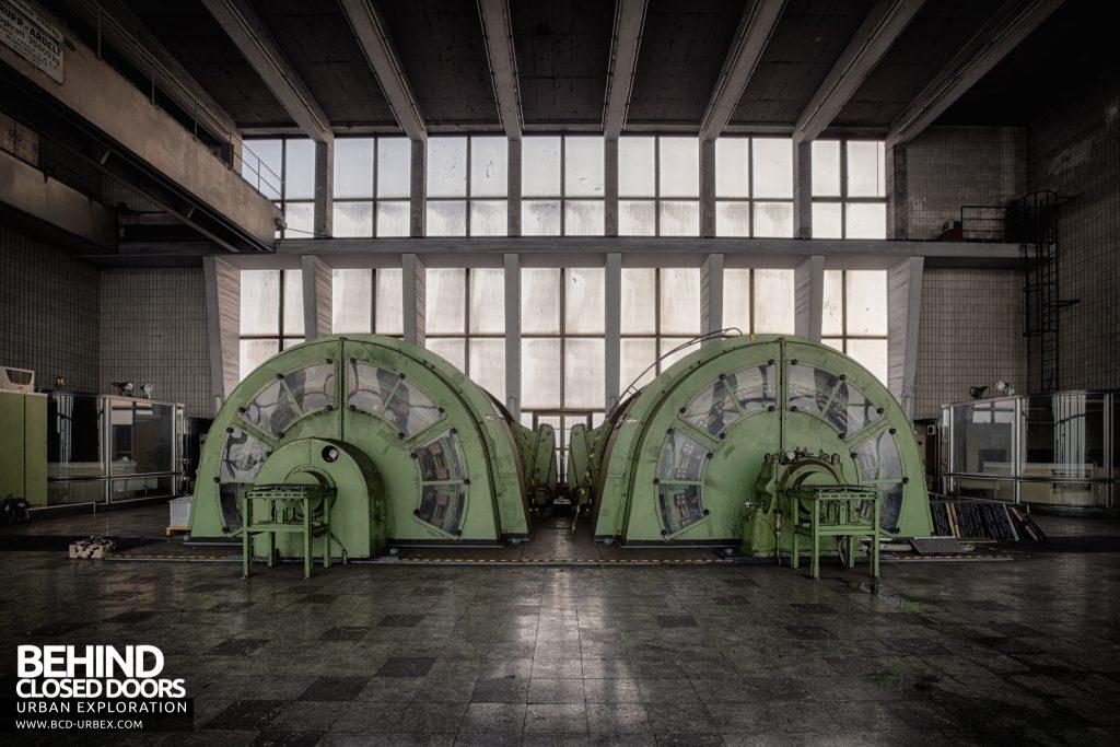 Bergwerk West Friedrich-Heinrich, Germany - Two identical BBC winder motors