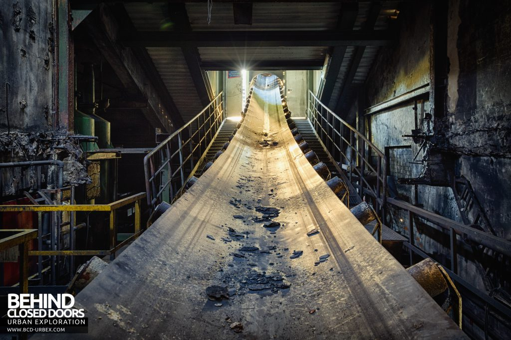 Bergwerk West Friedrich-Heinrich, Germany - A network of conveyors brought coal from the mine and moved it around the surface buildings