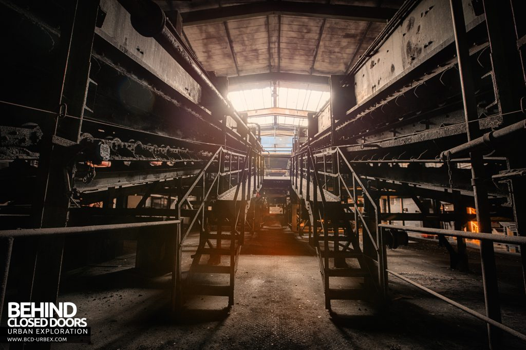 Bergwerk West Friedrich-Heinrich, Germany - Machines in the hard coal processing plant