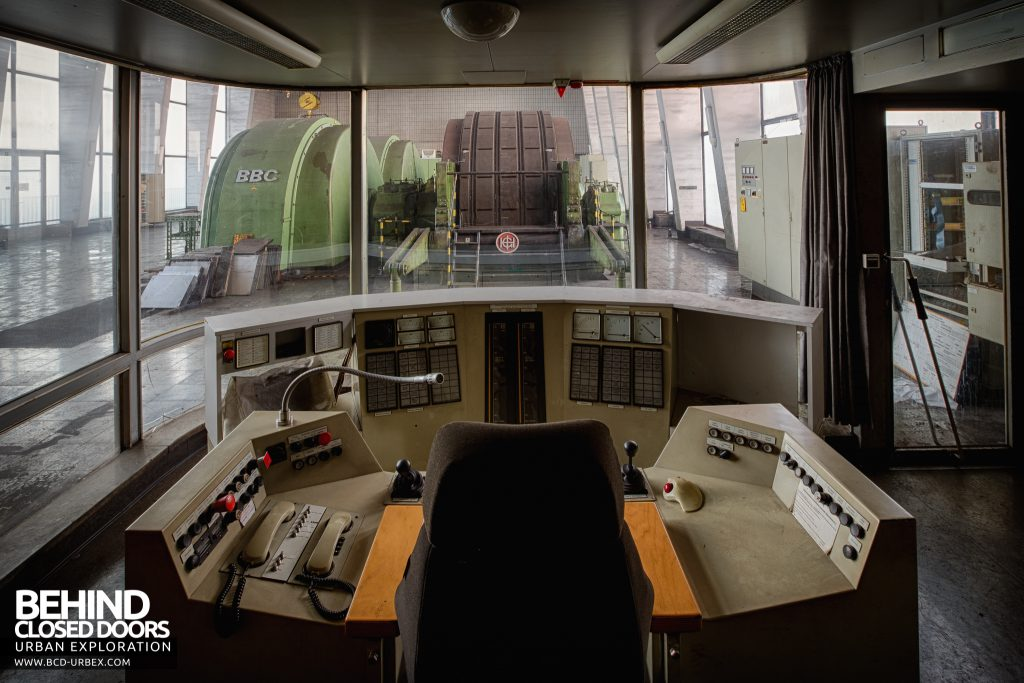 Bergwerk West Friedrich-Heinrich, Germany - View over the control station inside one of the two control rooms