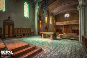 Blue Chapel Monastery, Italy - View behind altar