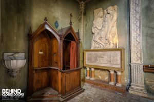 Blue Chapel Monastery, Italy - Confession booth