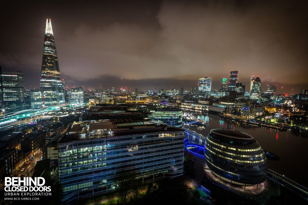 London Rooftops - The Shard, Boris Johnsons office and the city backdrop