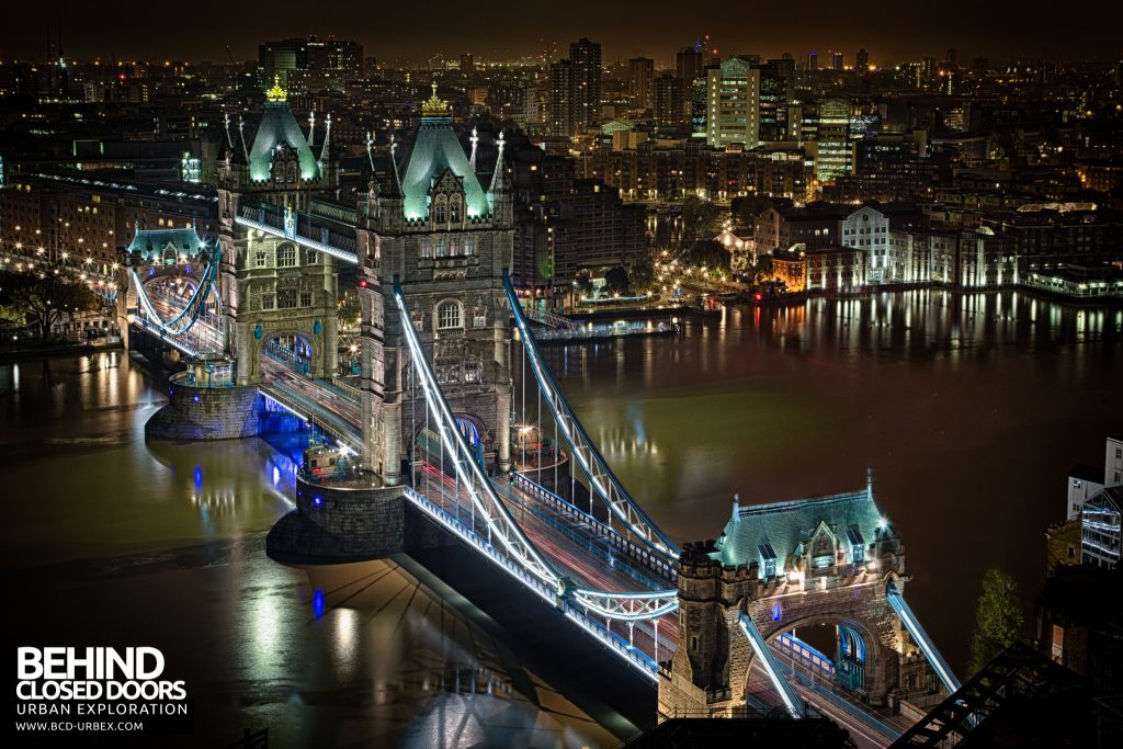 London Rooftops - Tower Bridge at night