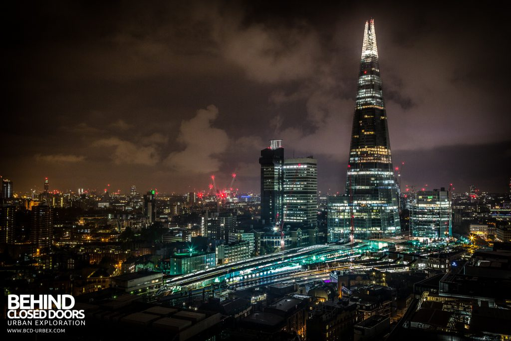 London Rooftops - The Shard and London Bridge Station