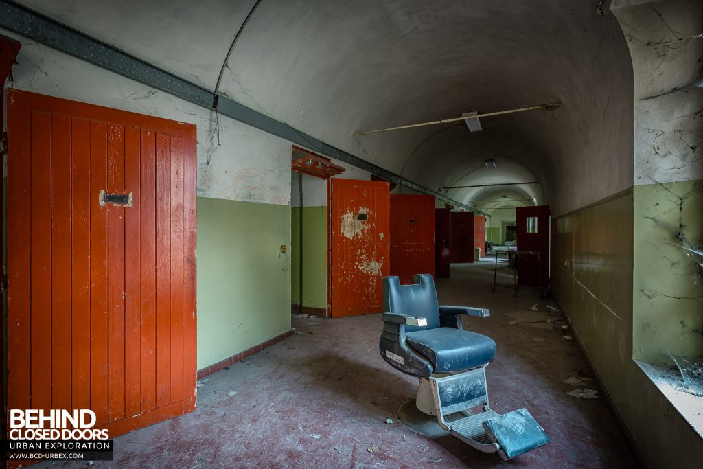 Manicomio di Colorno, Italy - Dentist chair in a corridor